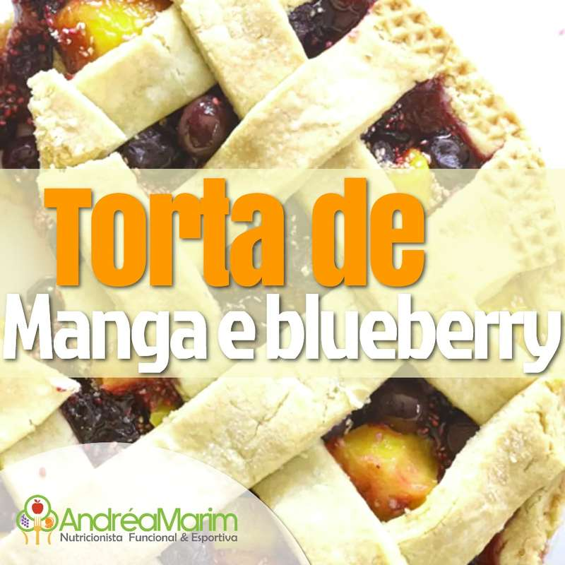 Torta de Manga de Blueberries-